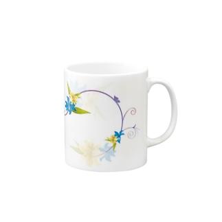 Flower_blue② Mugs