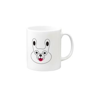 WHITE BUNNY 002 てへぺろ Mugs