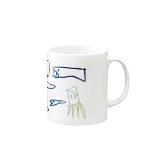 おさかなの行進 Mugs
