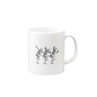 骨のスタンプ Mugs
