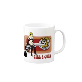 GIRL AND GUNS Mugs