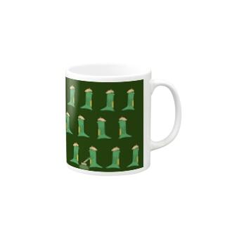 オニグリーンのマグカップ Mugs
