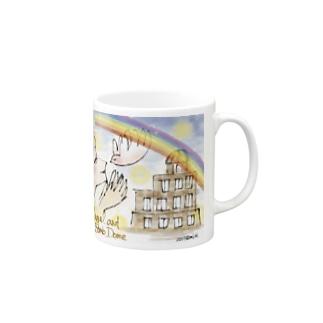 Ang15 エンジェルと原爆ドーム Mugs