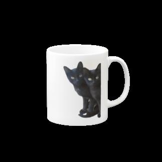 ちばっちょ【ち畳工房&猫ねこパラダイス】の黒猫は見た Mugs