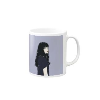 黒髪のイケてる彼女 Mugs