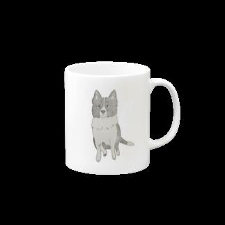 aibouのI♥︎BORDER COLLIE sit series Mugs
