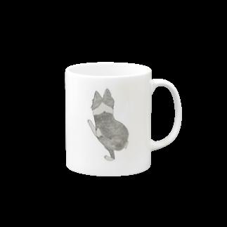 aibouのI♥︎BORDER COLLIE play bow series Mugs