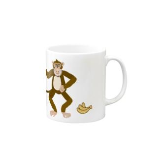 ジルトチッチのデザインボックスのお猿のひげおがオッス、バナナです〜! Mugs