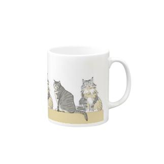 ニャンコと一緒のコーヒータイム Mugs
