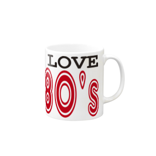 Patmaru WorksのI LOVE THE 80's Mugs