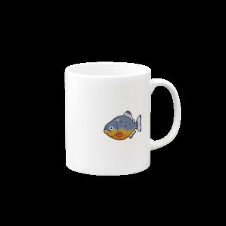 キノコ(HUTAGOのピラニア_マグカップ Mugs