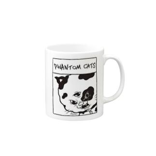 化け猫ドットフィアーフェイス Mugs