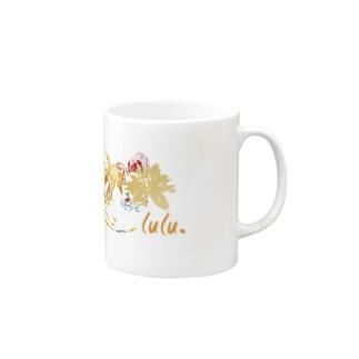 コヌイのアトリエの花とねこ Mug