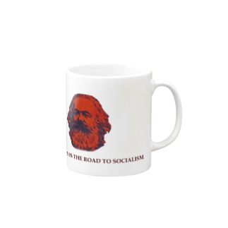 マルクス DEMOCRACY IS THE ROAD TO SOCIALISM Mugs