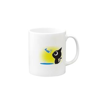 魚の夢〜ネコトビツクリトボク〜 マグカップ