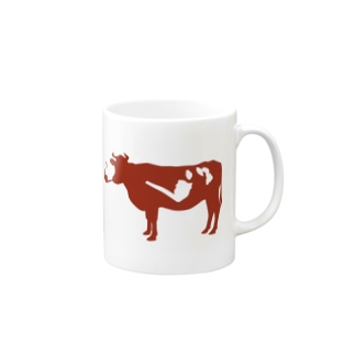 smoking cow Mugs