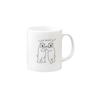 シロクマのハイタッチ! Mugs
