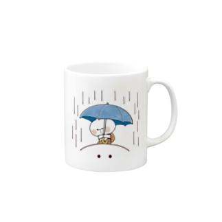 Spoiled Rabbit Umbrella / あまえんぼうさちゃん かさ Mugs