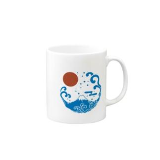 富士山・波 Mugs