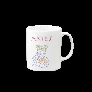 かわべしおん / イラストレーターの牡羊座ガールのお守り Mugs