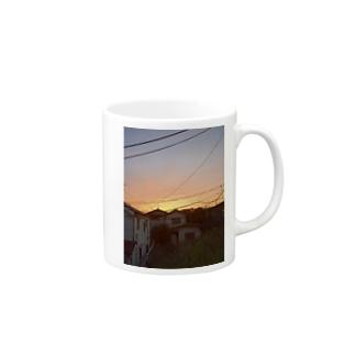 りったの夕焼け空 Mugs