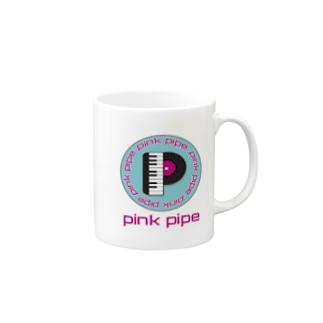 PinkPipeオリジナルグッズ ピアノレコード Mugs