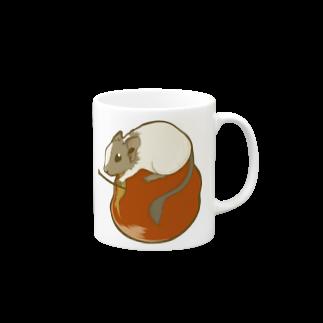 Lichtmuhleのリンゴ×デグー Mugs
