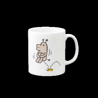 タキヲ@スタンプ販売「どうぶつくん」のどうぶつくん(いまいくよ)マグカップ