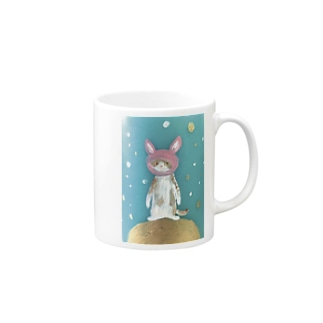 space travel cat Mugs