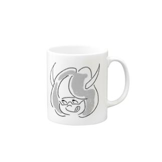 したりがおgirl monotone Mugs