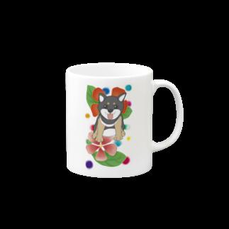 Lily bird(о´∀`о)の花と黒柴ちゃんⅠ Mugs