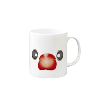A white java sparrow Mugs
