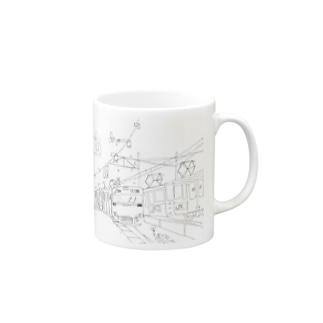 田町くわ(タテ) Mugs