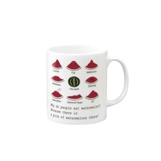 世界のスイカの山々 Mugs