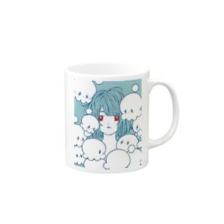 宇宙タコまみれ Mugs