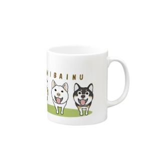 柴犬トリオ Mugs