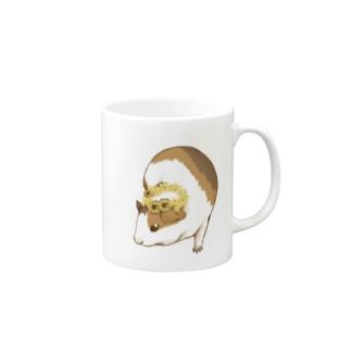 ミモザの花かんむりとモルモット Mugs