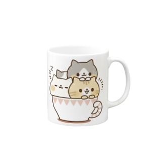 ネコがいっぱいティーカップ Mugs