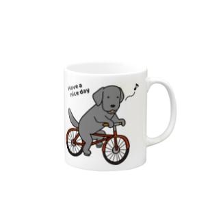 bicycleラブ 黒 Mugs