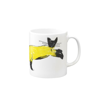 flying cat Mugs