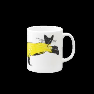 horimotoxxyukiのflying cat Mugs