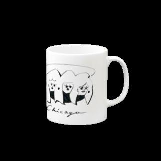 horimotoxxyukiのChicagoマグカップ