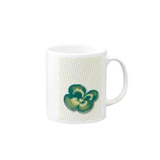 クローバー緑ドット Mugs