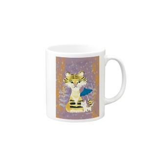 tiger & cat Mugs
