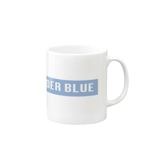 UNDER BLUEボックスロゴ Mugs