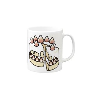 Cɐkeccooの特別な日のショートケーキ Mugs