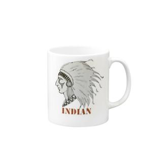 インディアン Mugs