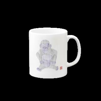 ★いろえんぴつ★のゴリラさん マグカップ