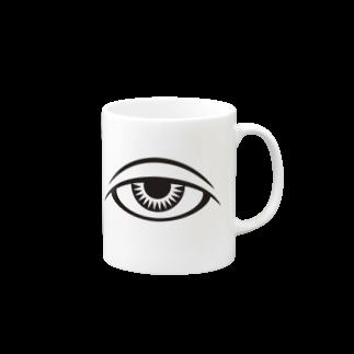 呪術と魔法の銀孔雀の呪術と瞳 マグカップ
