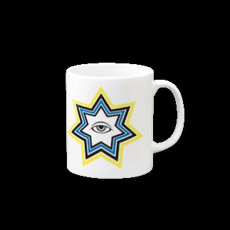 呪術と魔法の銀孔雀の明けの明星 マグカップ